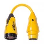 Marinco P504-30, EEL Pigtail Adapter, 125/250V Male 125V Female