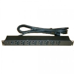 Bud POS-202, Rackmount Power Outlet Strip, 20 AMP Locking Plug