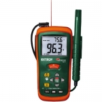 Extech RH101, Hygro-Thermometer with IR Thermometer & Probe