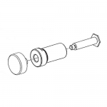 Bradley S08-340, Pushbutton Assembly for Air Metering Valve (AST4)