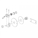 Bradley S45-2842, AST Pushbutton Assembly w/ Check