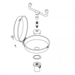 Bradley S90-291, Eyewash Assembly with Bowl Cover