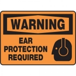 """Accuform MPPE327XT, Sign """"Warning Ear Protection Required"""""""