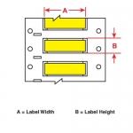 Brady 3FR-1000-2-YL, 112813 Fluid Resistant Wire Marking Sleeve