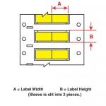 Brady 3FR-1000-2-YL-S-2, Resistant Wire Marking Sleeve