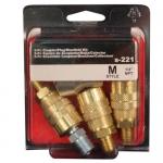 Milton s-221, 1/4″ NPT M Style 3 in 1 Manifold Kit, 5 Piece
